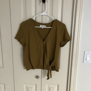Madewell wrap top in gold